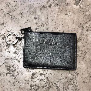 NWOT Coach keychain wallet.  Silver/Gray.